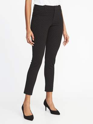 Old Navy Mid-Rise Pixie Ankle Textured-Dot Pants for Women
