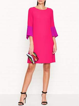 Paul Smith Silk Blend 3/4 Sleeve ShiftDress - Pink