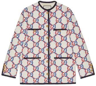 Gucci Oversize GG Sylvie tweed jacket