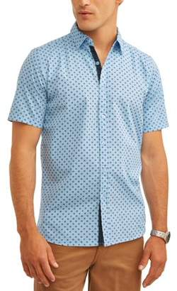 SWISS CROSS Men's Short Sleeve Printed Brushed Woven