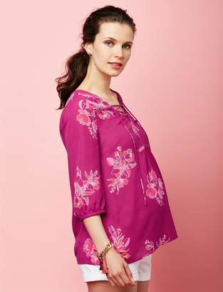 A Pea in the Pod Lace Up Maternity Blouse