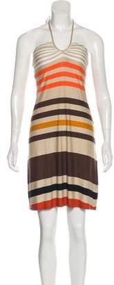 L'Agence Striped Halter Dress