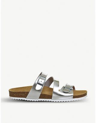 Office Bounty metallic faux-leather sandals