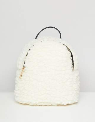 Asos Design DESIGN mini shearling backpack