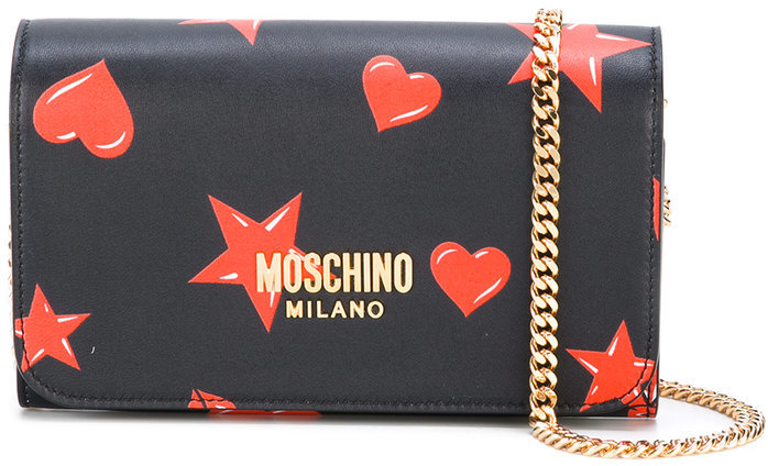 Moschino Moschino star and heart print bag