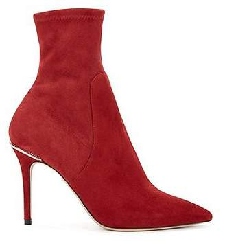 HUGO BOSS Sock-style ankle boots in Italian stretch suede