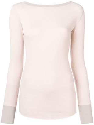 Pinko contrast trim top