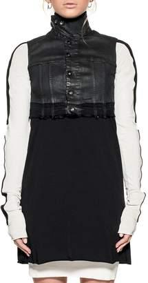 Drkshdw Black Cropped Denim Jacket