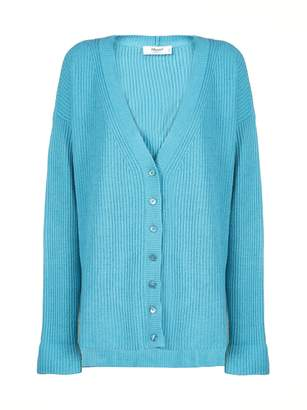 Blugirl Oversized Ribbed-knit Cardigan