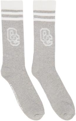 Opening Ceremony Grey Logo Socks $20 thestylecure.com
