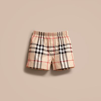Burberry Check Twill Cotton Boxer Shorts 4