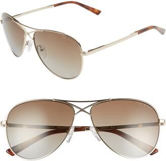 Ted Baker 58mm Gradient Aviator Sunglasses