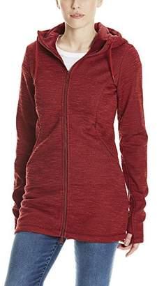 Bench Women's Bonded Long Velvet Jacket Coat, (Black Beauty Bk11179), Small