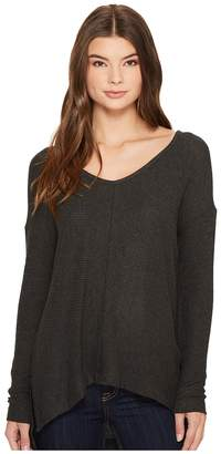 Three Dots Brushed Sweater Rib High-Low Top Women's Sweater