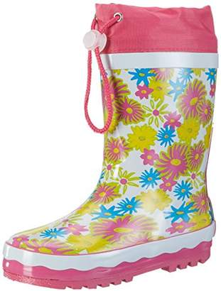 Playshoes GmbH Unisex Kids' Rubber Boots Flowerprint Wellington,9 Child UK 26/27 EU