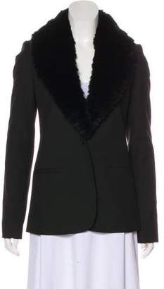 Elizabeth and James Fur-Trimmed Long Sleeve Jacket w/ Tags