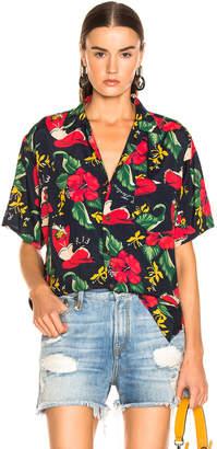 R 13 Hawaiian Shirt in Red Lady   FWRD
