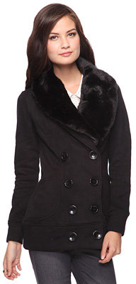 Forever 21 Faux Fur Collar Jacket