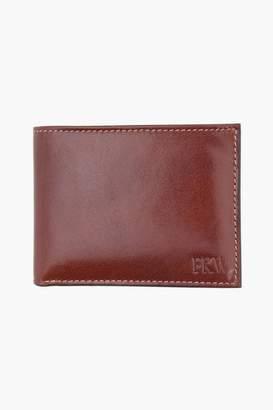 Trafalgar Monogrammed Cortina Leather Slimfold Wallet