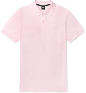 HUGO BOSS Pallas Cotton-pique Polo Shirt - Pink