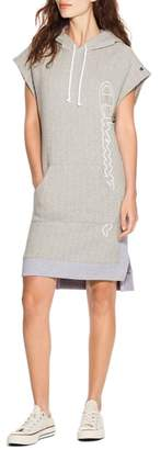 Champion Reverse Weave(R) Hooded T-Shirt Dress