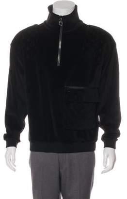Louis Vuitton Velour Half Zip Sweater w/ Tags black Velour Half Zip Sweater w/ Tags