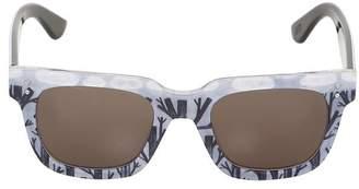 Squared Printed Acetate Sunglasses
