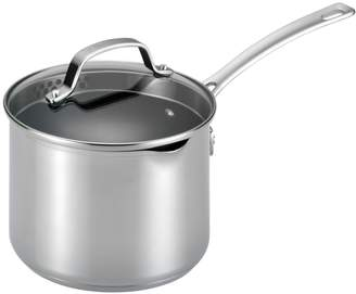 Circulon 3QT. Genesis Stainless Steel Non-Stick Covered Straining Saucepan