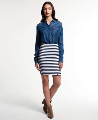 Superdry Premium Scuba Pencil Skirt