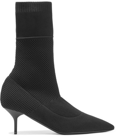 Burberry - Stretch-knit Boots - Black