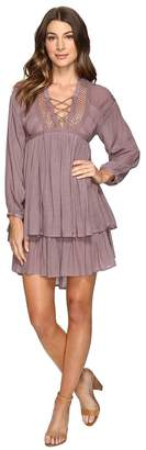 Brigitte Bailey Halima Long Sleeve Tie-Front Dress Women's Dress
