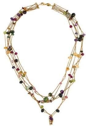 18K Multistrand Briolette Necklace