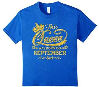 This Queen Was Born On September 3rd T-shirt