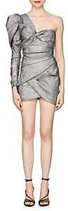 Isabel Marant Women's Lexine Metallic One-Sleeve Minidress - Silver