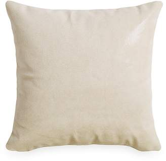 """Donna Karan Tidal Lacquer Printed Leather Decorative Pillow, 16"""" x 16"""""""