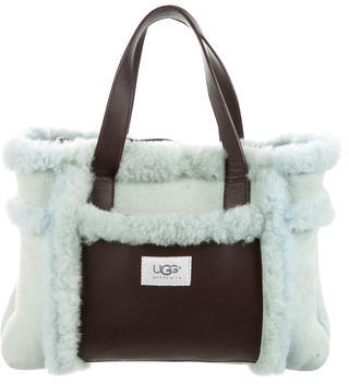 UGG UGG Australia Leather & Shearling-Accented Suede Handle Bag