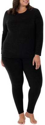 Fruit of the Loom Fit for Me by Women's and Women's Plus Size Stretch Fleece Thermal Top and Pant Set