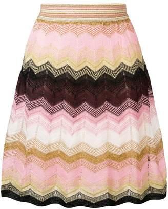 M Missoni zigzag pattern skirt