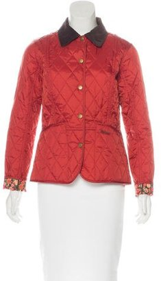Barbour Quilted Corduroy-Trimmed Coat $95 thestylecure.com