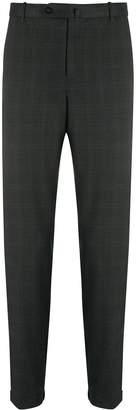 Incotex tartan twill suit trousers