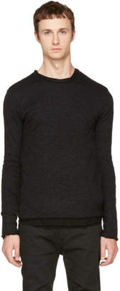 Nude:mm Black Wide Neck T-Shirt