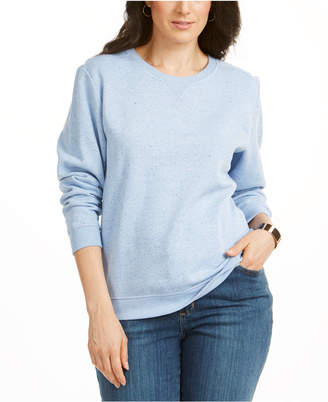 Karen Scott Petite Fleece Crewneck Sweatshirt