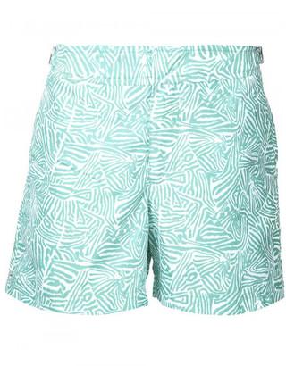 Orlebar Brown beach print swim shorts $275 thestylecure.com