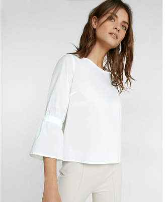 Express Long Smocked Sleeve Cotton Blouse $49.90 thestylecure.com