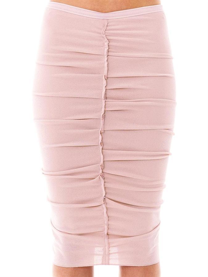 Nina Ricci Ruched crepe-jersey skirt