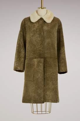Sofie D'hoore Velvet and fur Misty coat