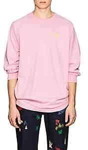 Acne Studios Men's Oil Badge Cotton T-Shirt - Pink