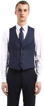 Lardini Wool & Linen Herringbone Vest