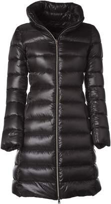 Herno Grey Long Padded Jacket With Hood