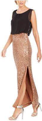 Calvin Klein Sequined Blouson Gown